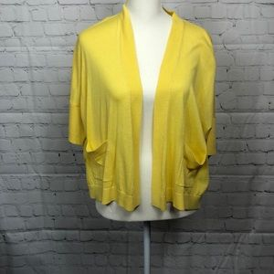 joan vass sweater, size 0P, color yellow